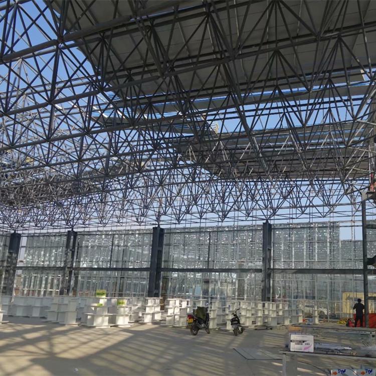 干煤棚网架,半封闭式煤棚网架,找江苏华凯网架厂家,专业定制与安装一条龙服务的网架公司