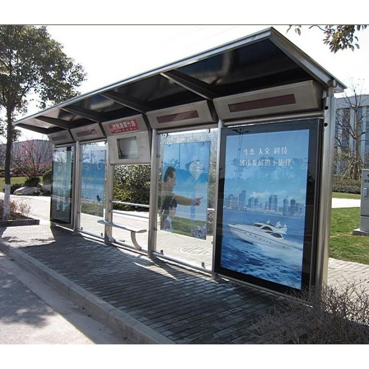 众达-FG001仿古公交候车亭 定制尺寸公交站台 LED公交站牌