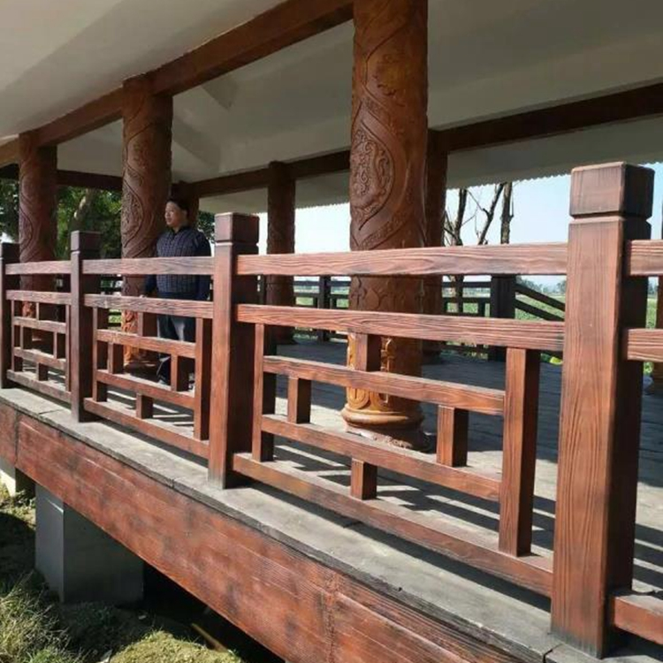 湛江仿木栏杆厂 供应公园栏杆 河堤仿木栏杆 实力厂家