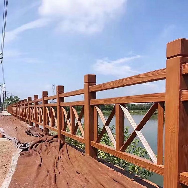 湛江仿木栏杆厂家 供应水泥仿木栏杆 混泥土仿木栏杆