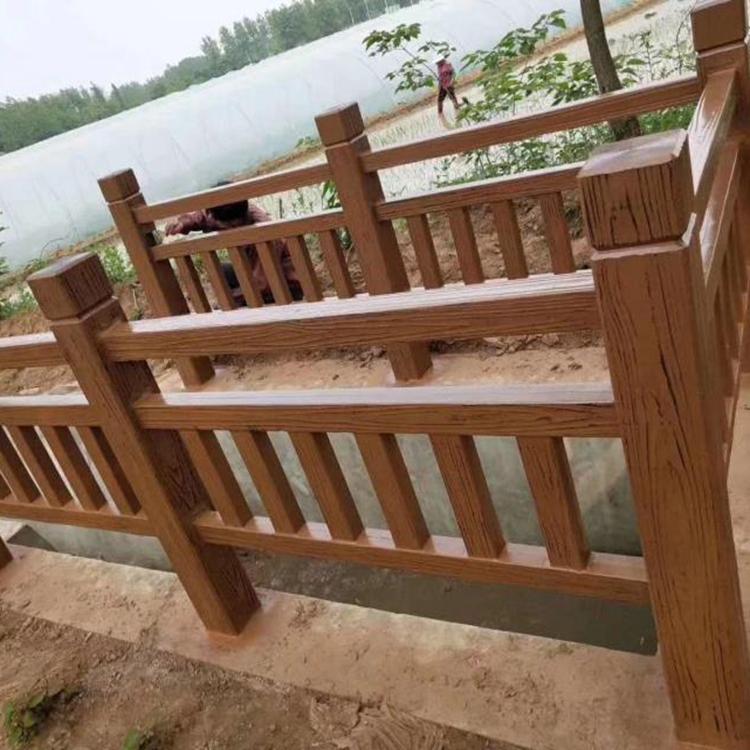 湛江仿木栏杆 防护栏景区栏杆 仿木栏杆价格