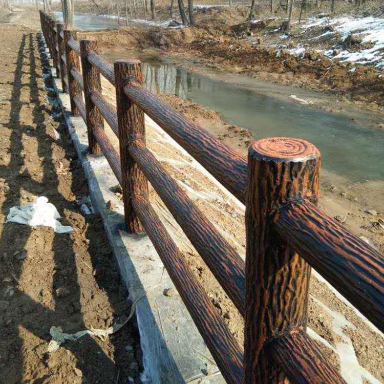 河道栏杆 旅游景区仿木栏杆 邦坚仿木栏杆厂家直销