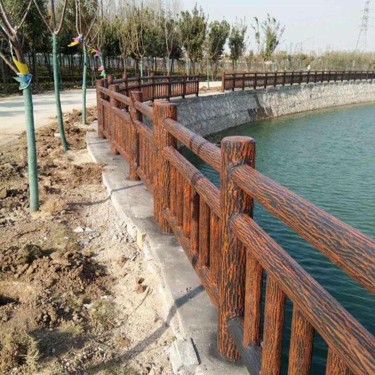 湛江仿木栏杆生产厂家 热销景区防护栏 量大价优