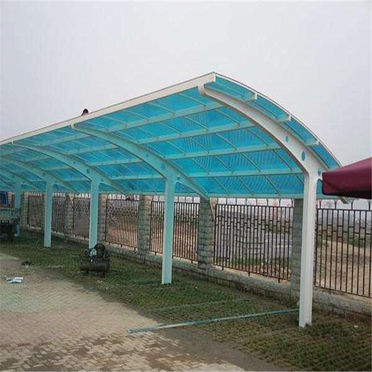 茂名阳光板雨棚 厂家直销 户外停车场阳光板雨棚 价格优惠