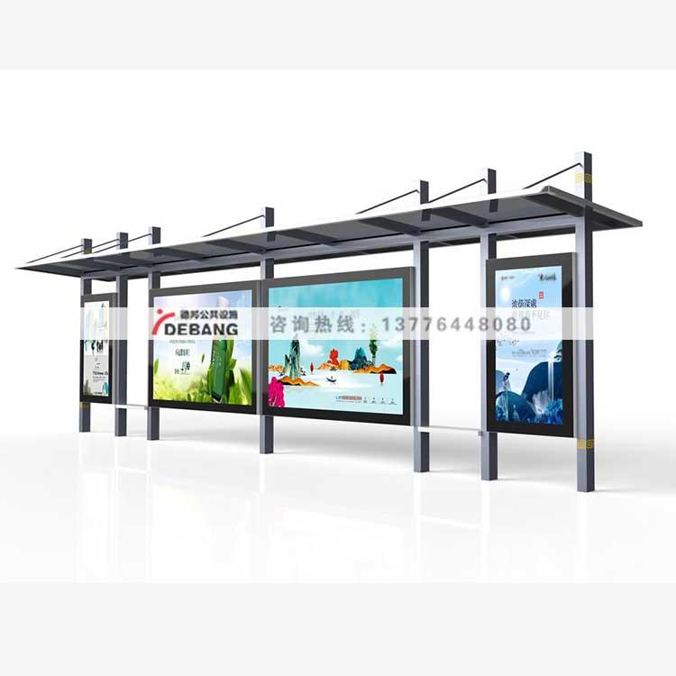 候车亭厂家,不锈钢公交车站,仿古广告,滚动灯箱,公交站亭乡村公交站台