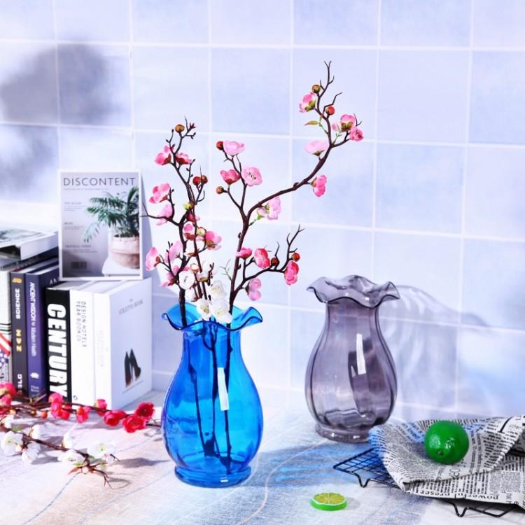 浮雕玻璃花瓶,荷叶边花瓶,专业玻璃瓶厂家直销 量大从优,质优价廉
