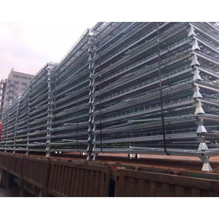 仓储笼 折叠式网格箱铁框定制货架超市仓储笼车金属周转箱