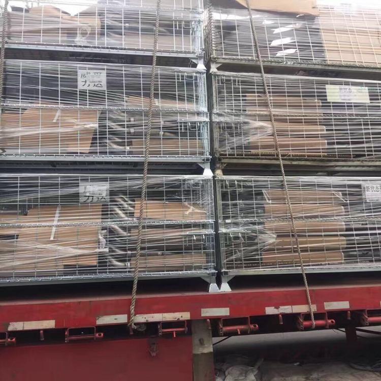 折叠式仓储笼物流快递移动仓储笼可移动折叠铁框储物笼可定制