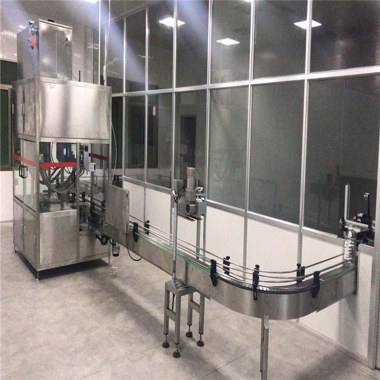 食用油灌装线,厂家直销,采用直流式灌装,PLC配合人机界面