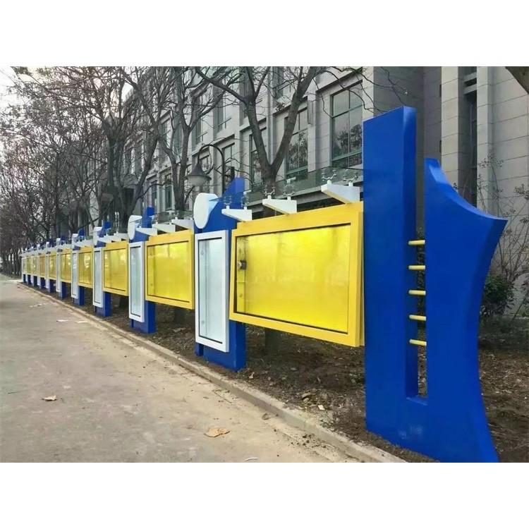 珑之鑫供应广西文化长廊,宣传栏,安装现场