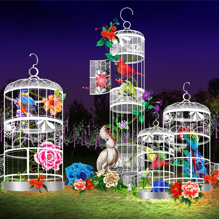 花灯定制 流程专业 制作经验丰富 龙君展览 优质花灯出售