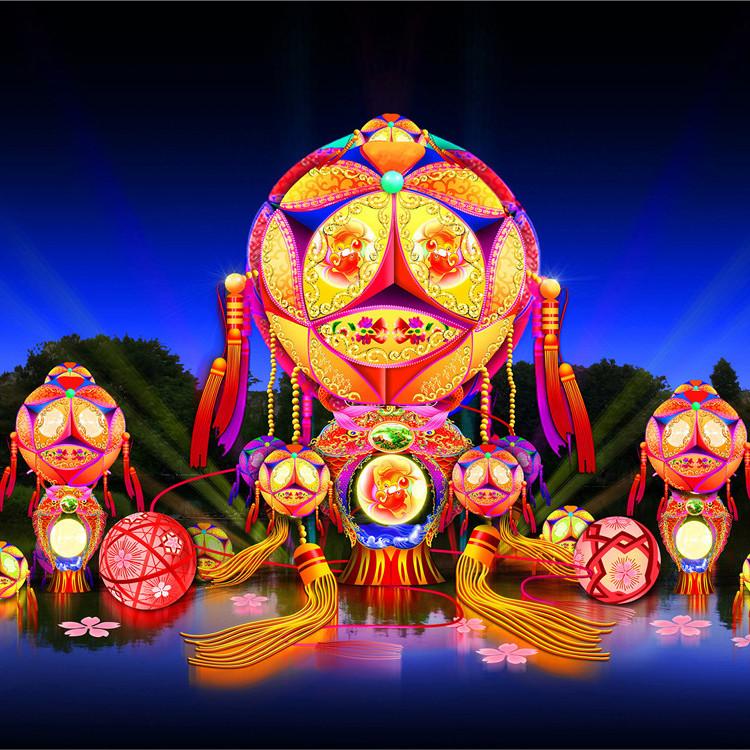 花灯专业生产出售 选择花灯制造单位 龙君展览 纯手工工艺