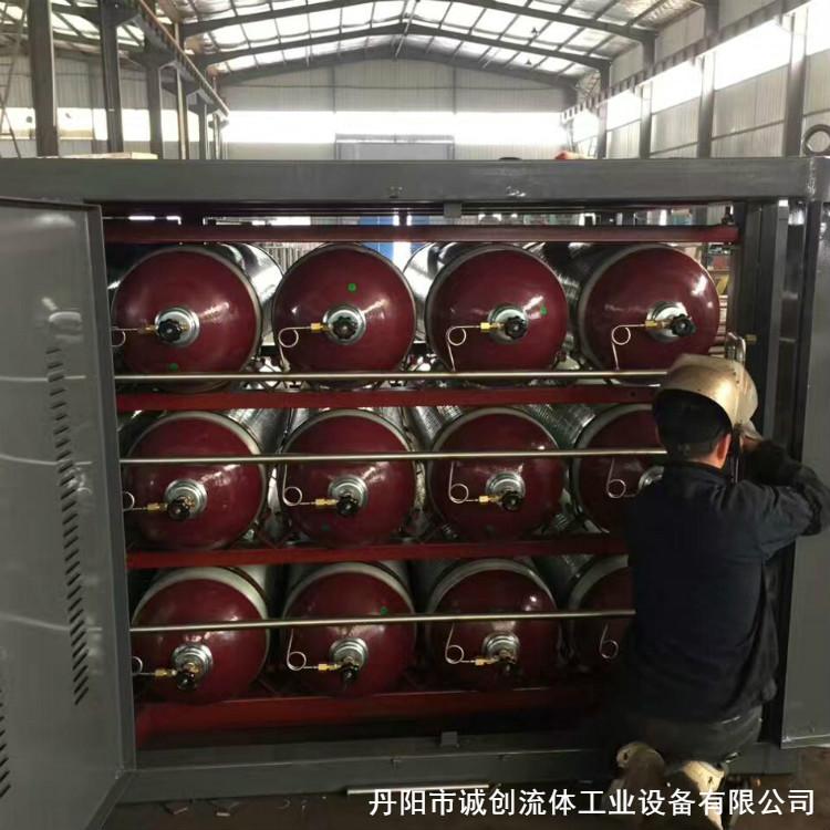 高压氮气瓶组专业直销单位 优质生产厂家直销 可配对各种压缩机 配有减压阀和压力表