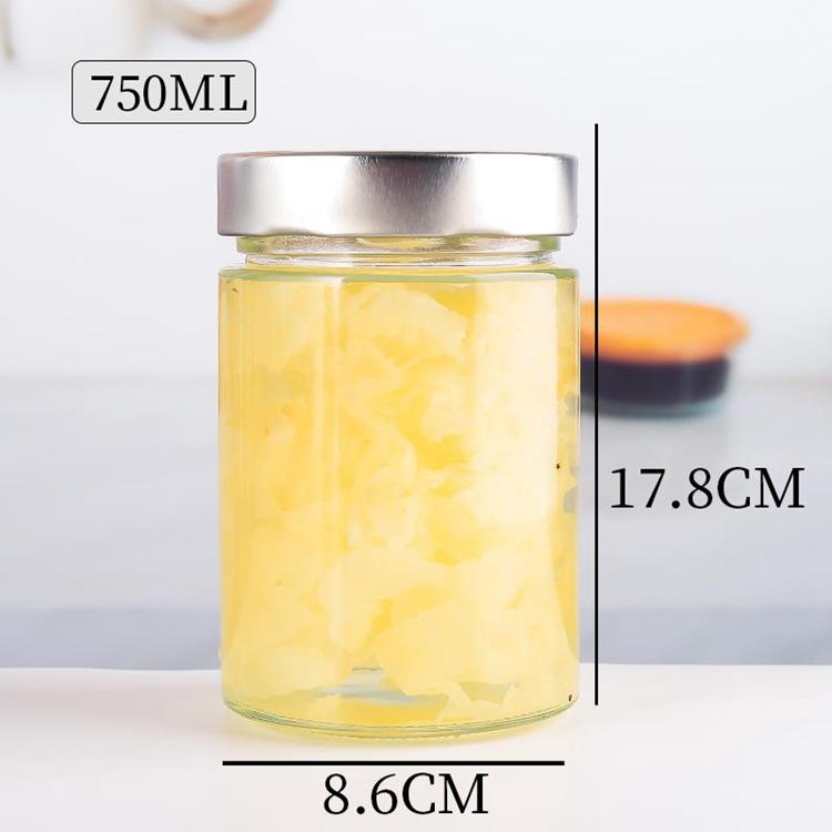 水果罐头玻璃罐 规格齐全 现货供应玻璃密封储物罐 质量保障