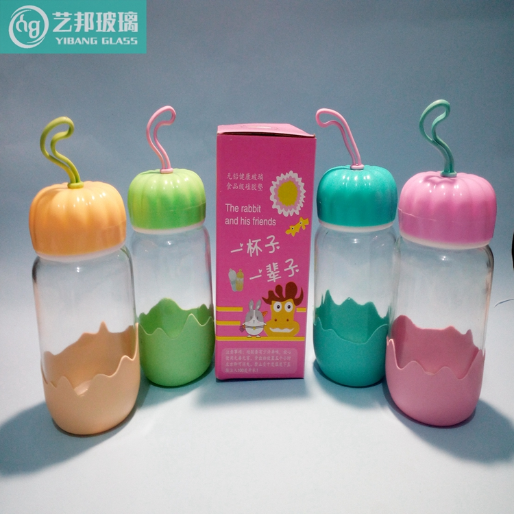 新款时尚创意玻璃南瓜杯 可爱儿童玻璃水杯 礼品南瓜玻璃杯