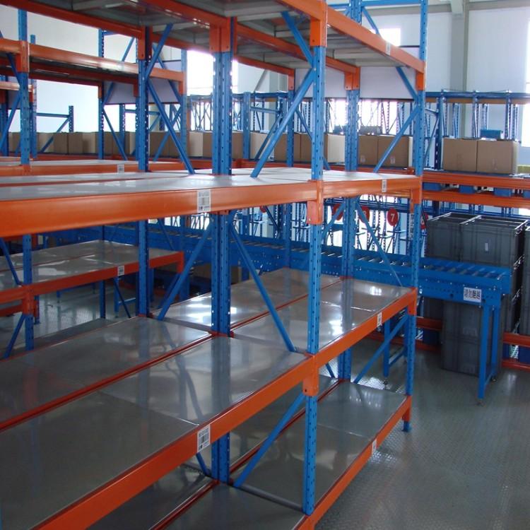 可拆卸隔板中型货架 仓库货架 搁板式角钢轻型仓储库房货架