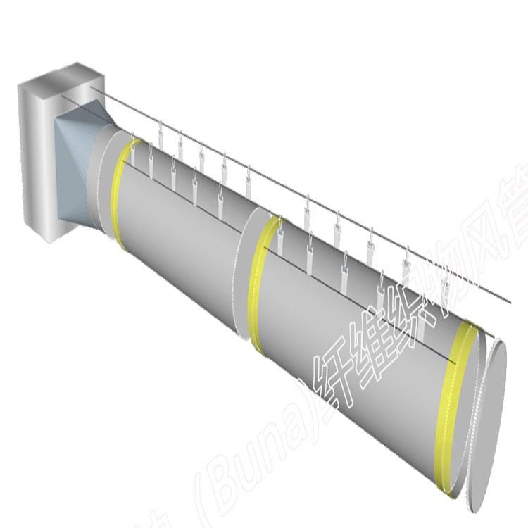 安装布纳风管,安装简单,缩短工程周期,布纳纤维织物风管