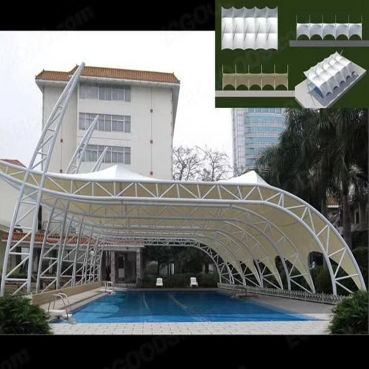 停车棚膜结构 大型机动车膜结构停车棚定制 找佳鑫布业