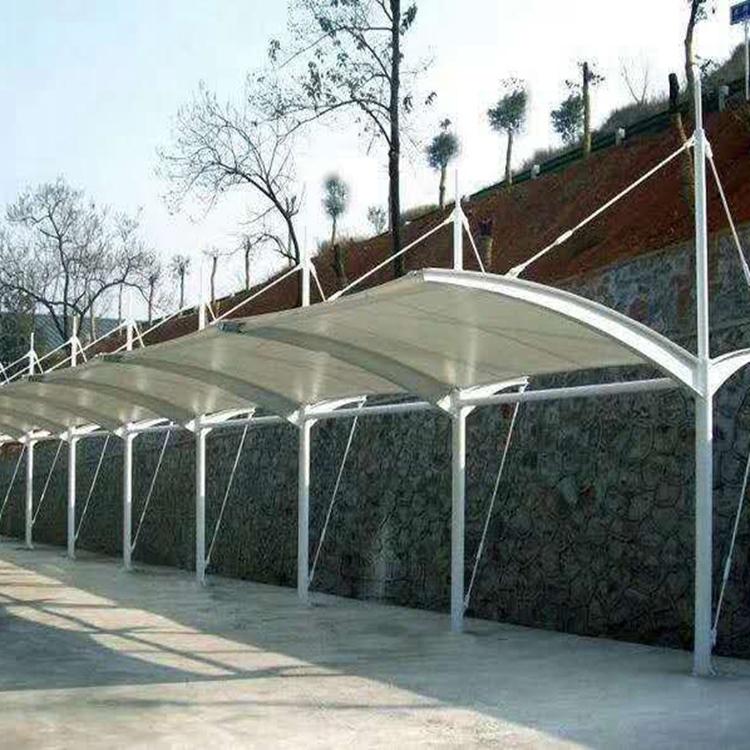 定做景观张拉膜厂家 膜结构车棚 经久耐用 造型精美