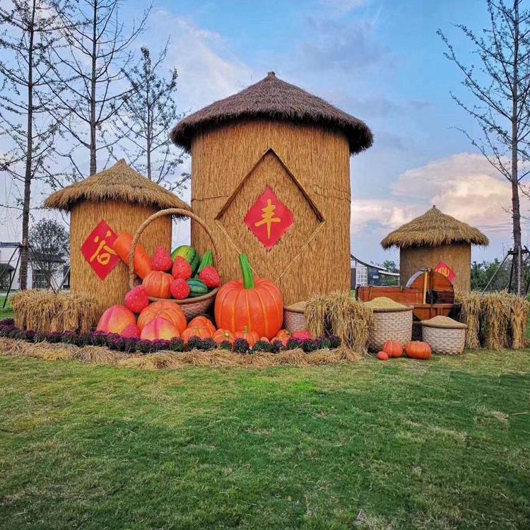 丰收节产品,草编务农人,稻草制作,风景区必备
