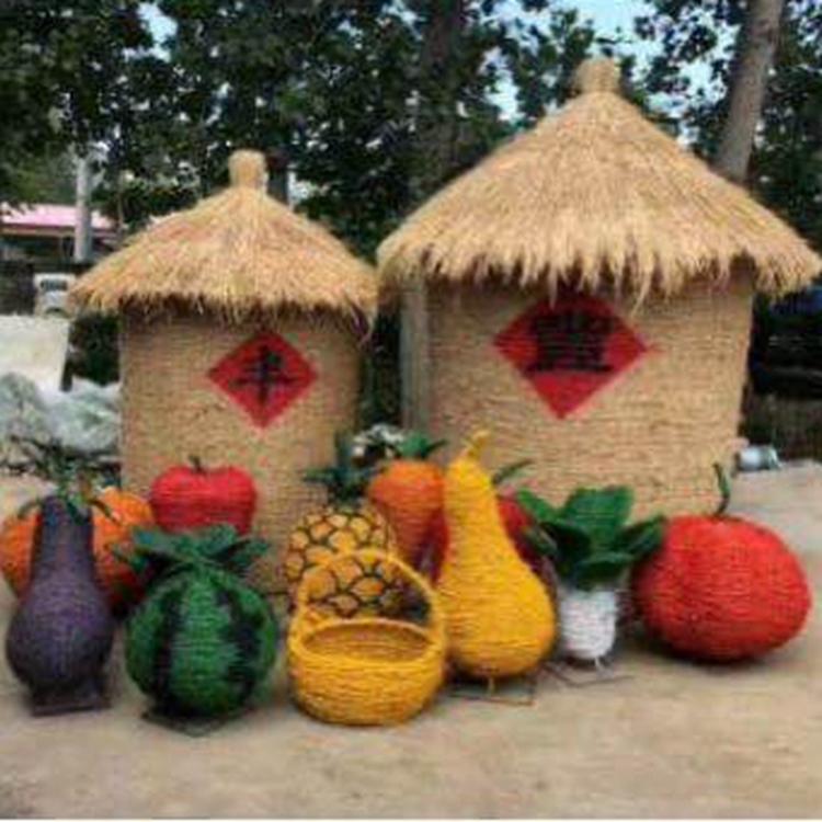 庆丰收稻草粮仓,丰收节产品,草编务农人,稻草制作,风景区必备,经验丰富