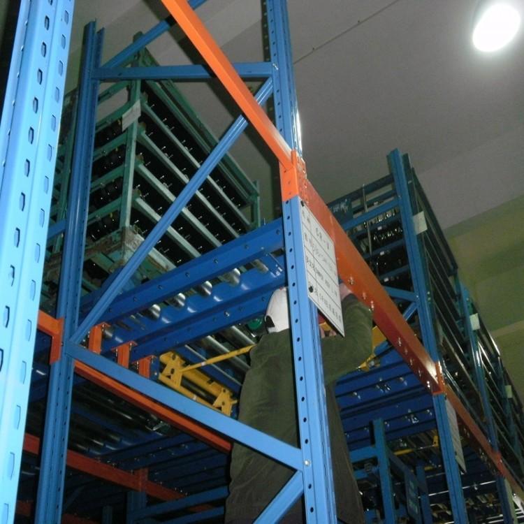 重力式货架 承重托盘储物架 立体贯通式 优秀厂家
