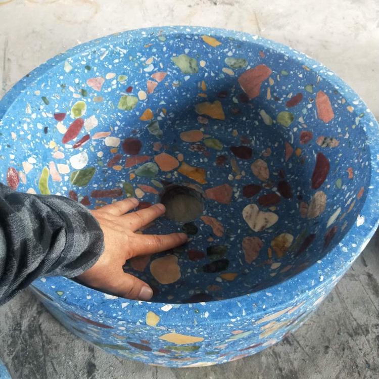 水磨石洗手盆厂家 专业定制优质水磨石洗手盆
