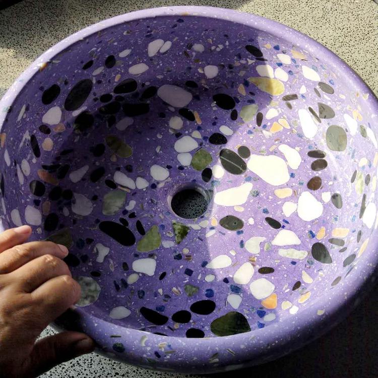 厂家现货直销水磨石洗手盆 个性水磨石洗手盆
