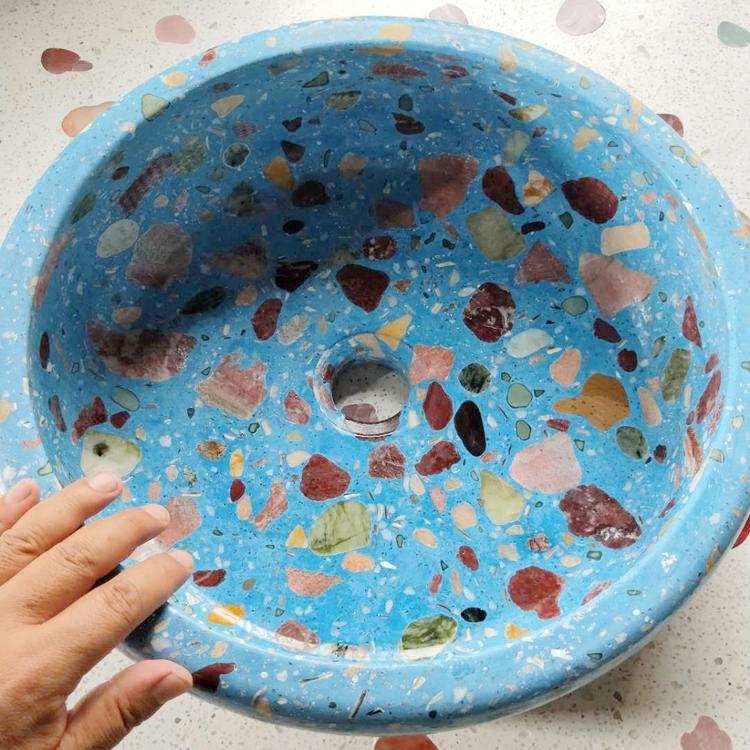 水磨石洗手盆厂家 优选藏宝阁 厂家直销 价格合理