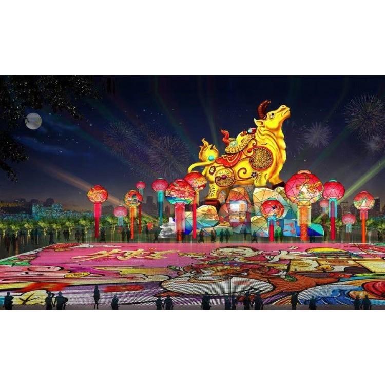 龙君展览牛年彩灯 提前预定 支持来图定制 灯会方案策划