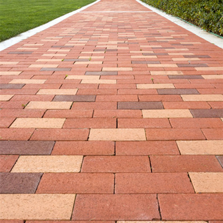 彩色人行道砖  绿化广场砖 户外混凝土地砖 透水砖厂家