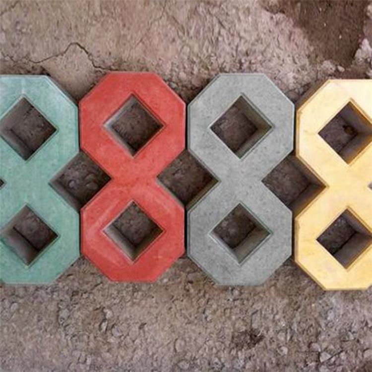 专业出售井字植草砖 彩色8字砖 停车场透水草坪砖 优质厂家