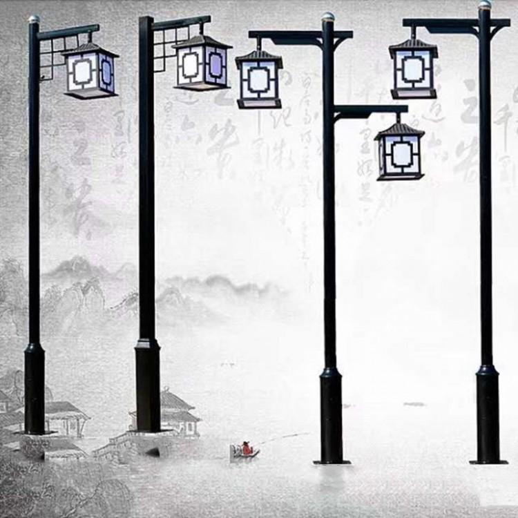 太阳能中式仿古庭院灯3米景观灯户外防水别墅景区复古灯笼led路灯
