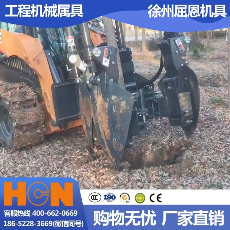 开春植树挖树机工厂直营 HCN屈恩苹果球式移树机 90公分土球完整专业种树机