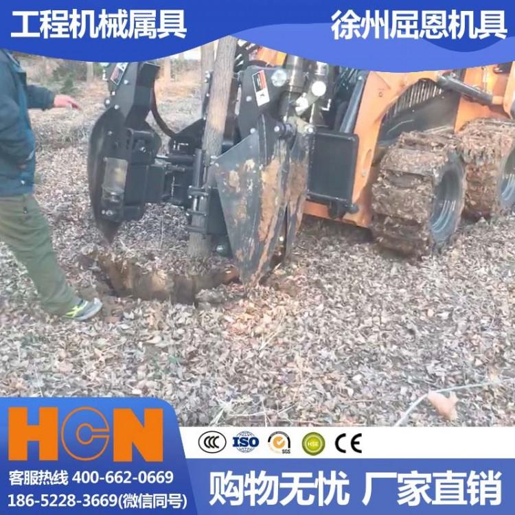 新款苗圃树林起树机 HCN屈恩苹果球移树机 硬质土地可用挖树机 液压植树机