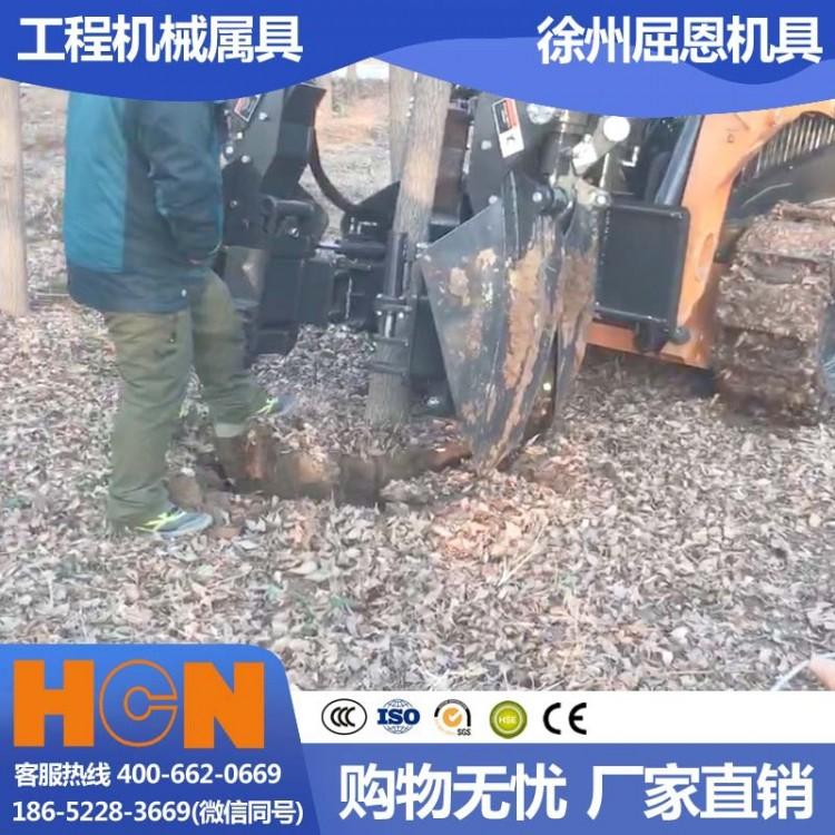 河南郑州挖树机 HCN屈恩苹果球移树机 红旗渠洛阳树木移栽设备 高成活率高效种树机