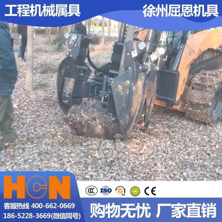 重庆綦江挖树机 HCN屈恩苹果球移树机 巫山三峡树木移栽设备 高成活率滑移种树机