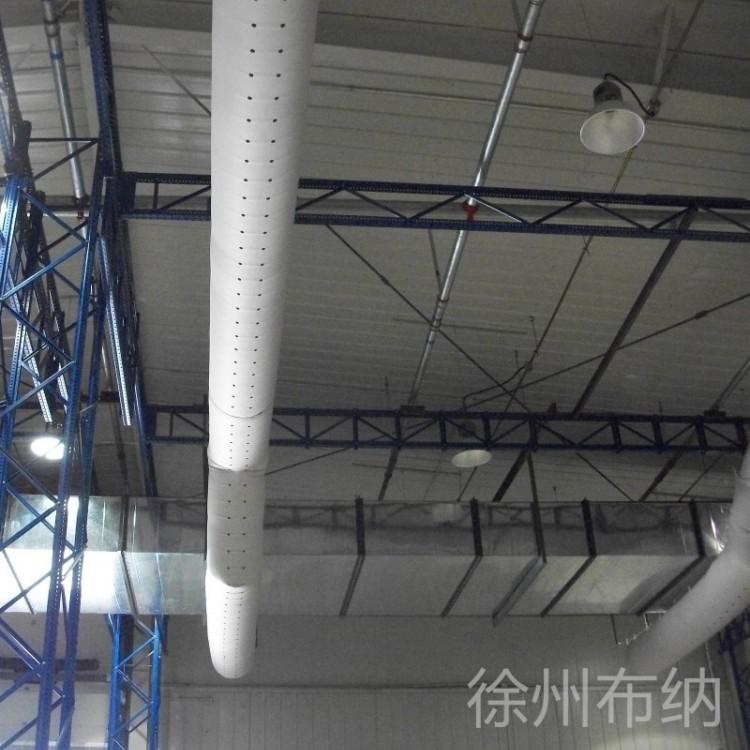 内支撑纤维织物风管,内含360°骨架