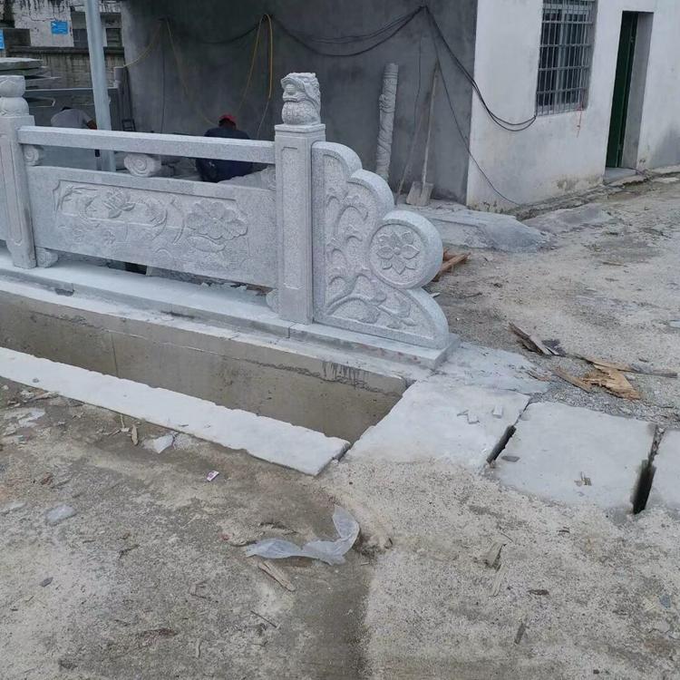 古建筑石围栏 可根据图案定制形状 园林石围栏