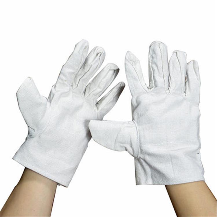 劳保加厚双层帆布手套价格 复合无纺布全衬 防护手套批发  劳保手套 广东手套生产厂家 大量批发