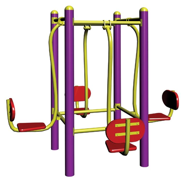 厂家直销小区四位坐蹬训练器健身器材 品类齐全 安全环保 欢迎咨询