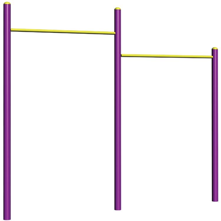 10201B 二联单杠公园健身器材生产厂家  高矮单杠健身器材 设备齐全 量大从优