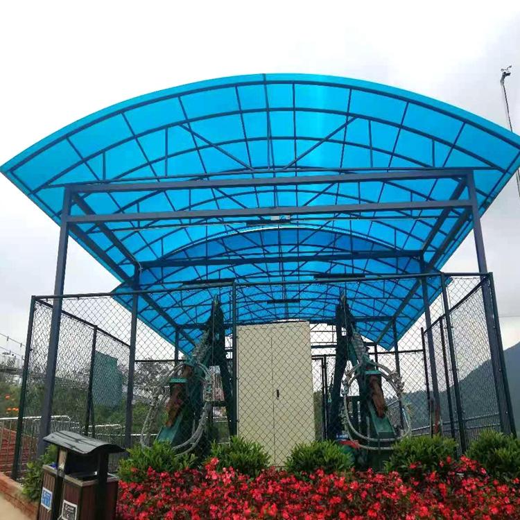 小型篮球场雨棚 小区篮球场雨棚 定制安装一站式服务