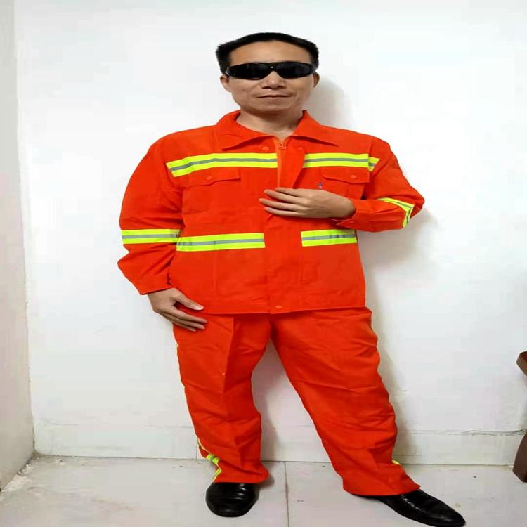 春秋季长袖带反光条环卫服 道路施工工地工人环卫工作服