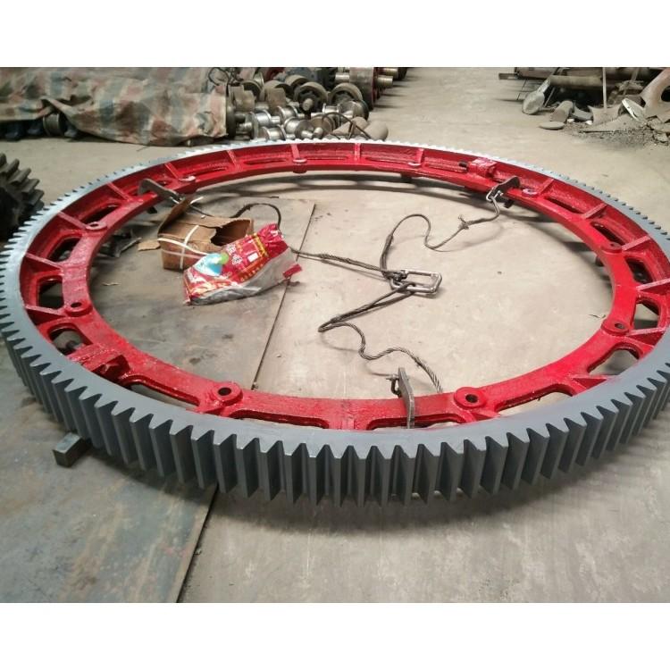 青岛活性炭转炉大齿轮配件,转窑干燥剂轮带托轮配件