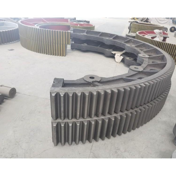 2.2米X45米回转窑轮带俗称滚圈托轮挡轮厂家制造
