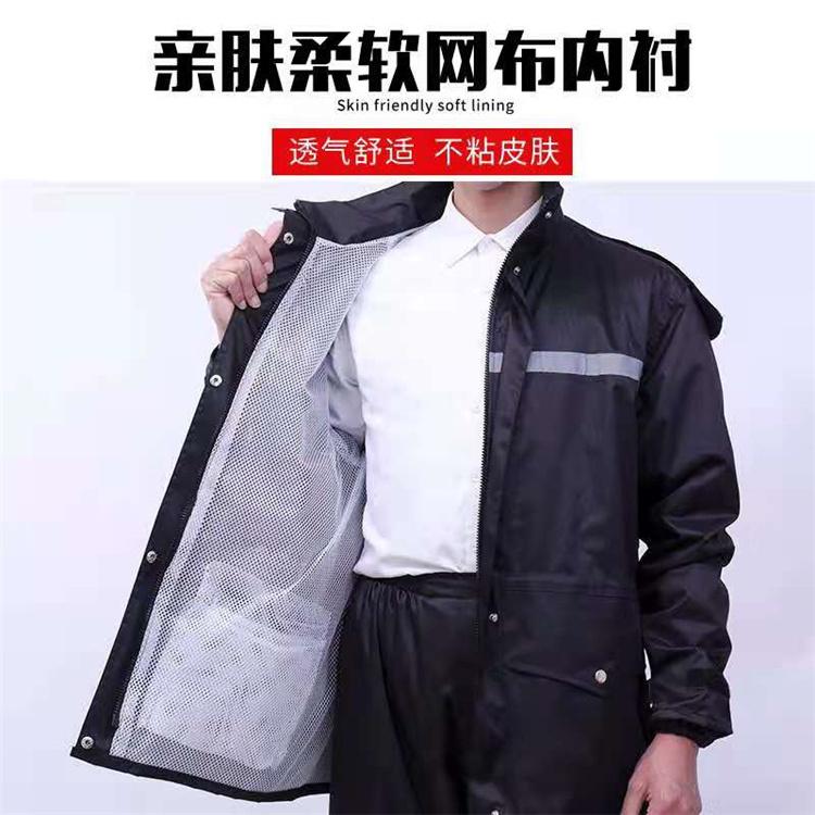 劳保雨衣批发 湛江防风雨衣 骑手雨衣套装机 工厂劳保雨衣