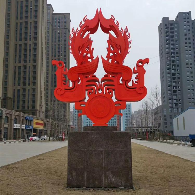 工厂直销城市景观雕塑 不锈钢标识牌 成开智能 视频验厂